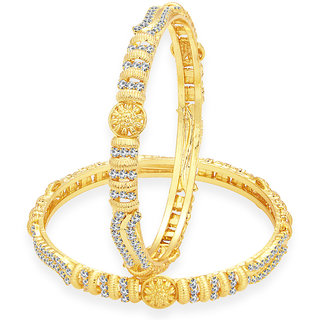 Sukkhi Glistening Gold Plated AD Bangle For Women
