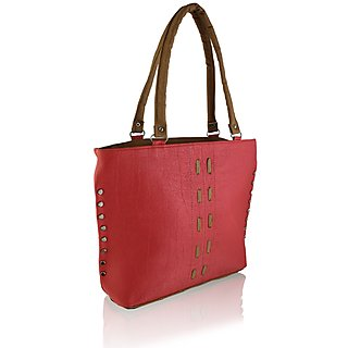 Clementine Peach Brown Handbag sskclem01