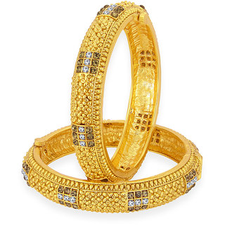 Sukkhi Amazing Gold Plated AD Bangle For Women