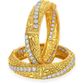 Sukkhi Royal Gold Plated American Diamond Bangle For Women