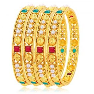 Sukkhi Classy Gold Plated Bangle For Women