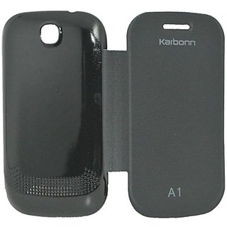 Totta Flip Cover for Karbonn A1 (Black)