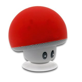Waterproof-Bluetooth-Wireless-Mushroom-Speaker(Red)