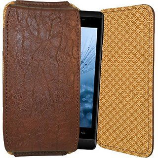 Totta Pouch for Celkon Millennia Epic Q550 (Brown)