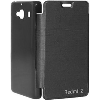BLACK FLIP COVER REDMI 2
