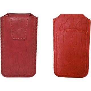Totta Pouch for Micromax Bolt A069 (Red)
