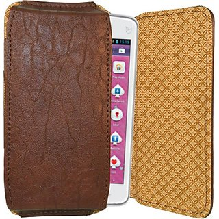 Totta Pouch for iBall Andi 5K Sparkle (Brown)