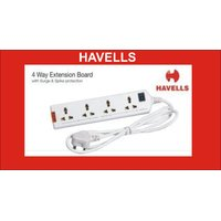 HAVELLS 4 WAY EXTENSION BOARD WITH SURGE & SPIKE PROTECTION EXTENSION CORD