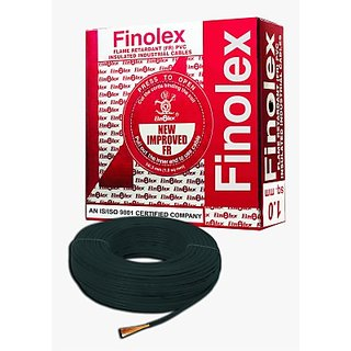 KEZIPL Finolex FR PVC, PVC 1 sq/mm Black 90 m Wire