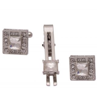 sushito Attractive Square Wedding Cufflink With Tie Pin JSMFHMA0751