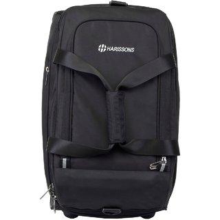 Harissons D-Lite Expander Trolley Black Duffel Strolley Bag