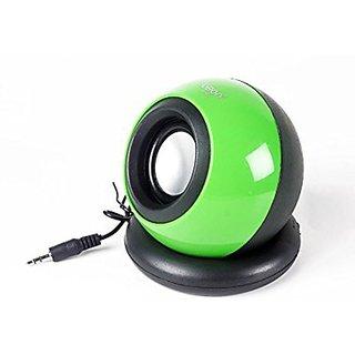 Ubon SP814 Wired Mobile/Tablet Speaker(Green, 1.0 Channel)