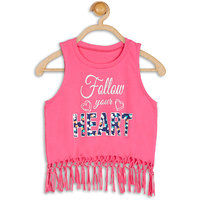 612 League Casual Sleeveless Printed GirlS Top