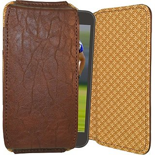 Totta Pouch For Celkon Millennia Meq54 (Brown)