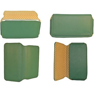 Totta Pouch For Intex Aqua N7 (Green)