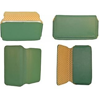 Totta Pouch For Micromax Bolt A35 (Green)