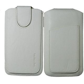 Totta Pouch For Micromax Canvas 3D A115 (White)