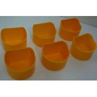 Imported Birds feeding cup l Quality 6 nos  Cage hanging type  Water Feeder