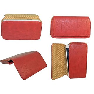 Totta Pouch For Micromax Canvas Hue 2 (Red)