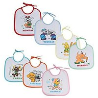 Blossoms Littles Baby Bibs 7 Weekdays (Multicolour)