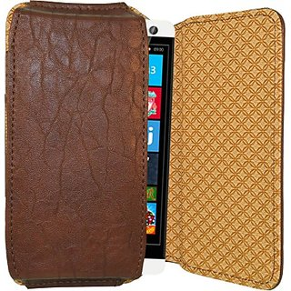 Totta Pouch For Xolo Q600S (Brown)