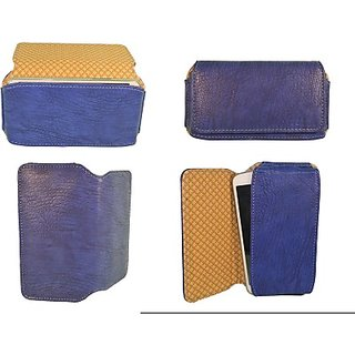 Totta Pouch For Celkon A402 (Blue)