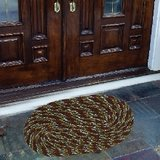 Handloomdaddy  Beautiful Door Mat(set Of 2) - Brown