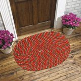 Handloomdaddy Beautiful Door Mat (set Of 2) - Red
