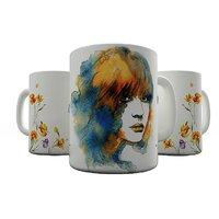 Shaildha 350 ML White Coffee Mug To Show Respect Towards Women (WD12)