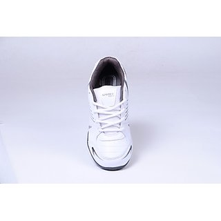 Galaxy Men's White & Grey Sport's Shoes