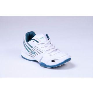 Galaxy Men's White & Green Sport's Shoes