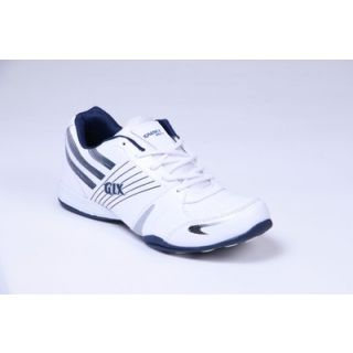 Galaxy Stylish Men's White & Blue Sport's Shoes