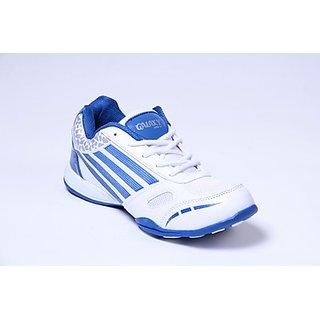 Galaxy Men's White & Blue Sport's Shoes - Option 1