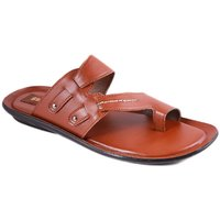 Balujas Mens Tan Slip On Sandals - 93011902