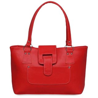 Chhavi Red PU Leather Women Handbag