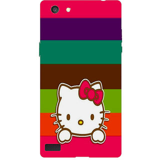 HI5OUTLET Premium Quality Printed Back Case Cover For OPPO NEO 7 A33F Design 24