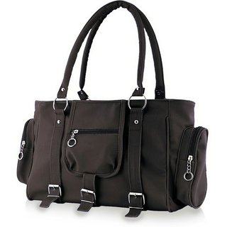 Chhavi Womens Casual Black Color Handbag With 2 Compartment