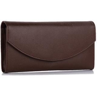 Goldmine Womens Dark Brown Color Wallet