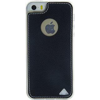 Stuffcool Levog Soft  Leather Back Case Cover for Apple iPhone 5 / 5S / SE - Black