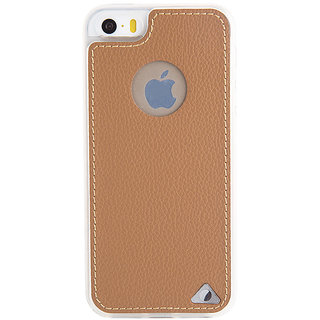 Stuffcool Levog Soft  Leather Back Case Cover for Apple iPhone 5 / 5S / SE - Brown