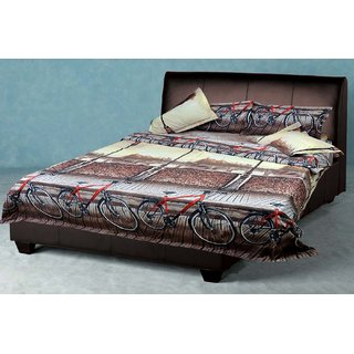Akash Ganga Multicolor Cotton Double Bedsheet with 2 Pillow Covers (EPCBSOO1)