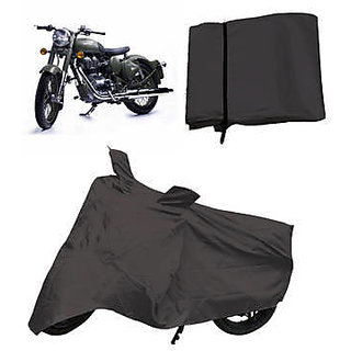 Bikers World Black Body Cover Safety Cover for Enfield Classic Desert Strom 550