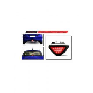 Bikers World Red 12 LED Brake Light Third StopStrobe Light Lamp DRl With Flasher For Honda Jazz