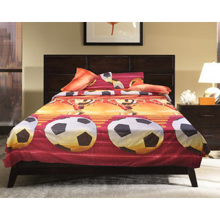 Akash Ganga Multicolor Cotton Double Bedsheet with 2 Pillow Covers (EPCBSOO10)