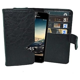 Totta Wallet Case Cover For Micromax Bolt A46 (Black)