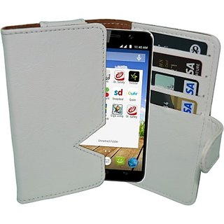 Totta Wallet Case Cover For Micromax A68 Smarty (White)