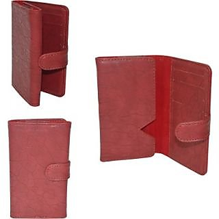 Totta Wallet Case Cover For Spice Nexian (Red)