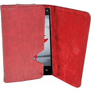 Totta Wallet Case Cover For Xolo Q2100 (Red)