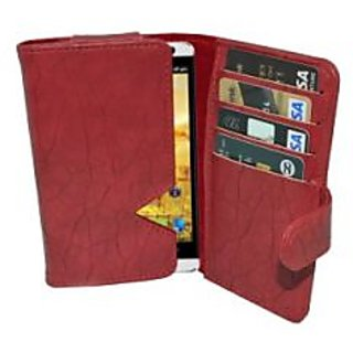 Totta Wallet Case Cover For Spice Stellar 518 (Red)