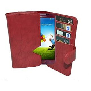 Totta Wallet Case Cover For Samsung Wave 3 S8600 (Red)